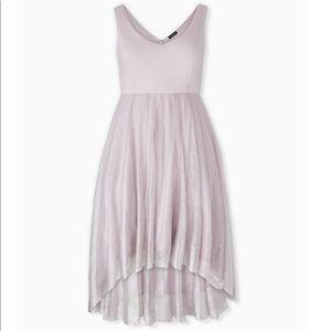 NWT TORRID Lilac Purple Ponte Shimmer Midi Dress